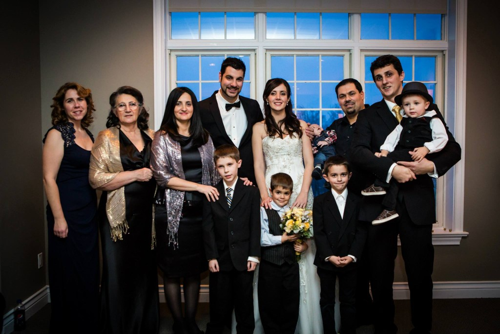 Luiza's wedding in Canada. Venera with three of her children and their families.