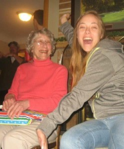 I have no words to explain what gramma means to me. I keep trying to come up with something but nothing I put together seems good enough. But here's my favorite picture of us.