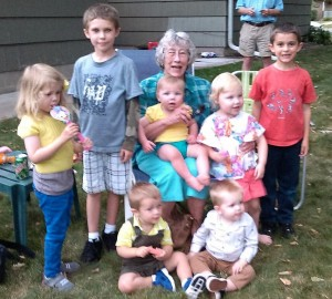 Gigi with 7 great grands